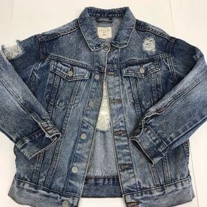 Hayden Girls Frayed Denim Jacket 9/10
